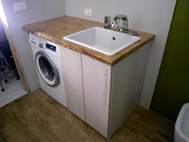 Mobile bagno con portabiancheria decora la tua vita - Asciugatrice in bagno ...