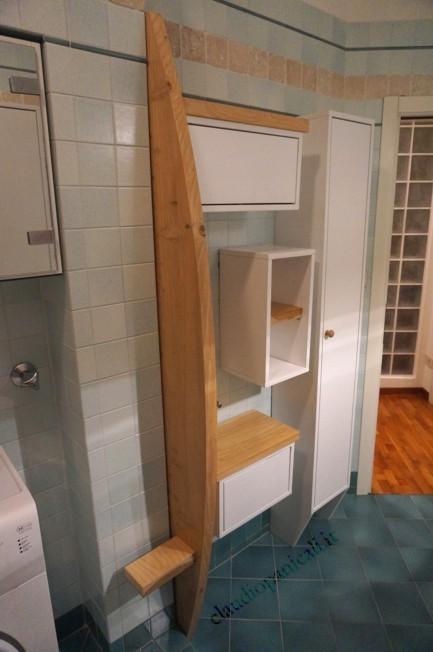 mobili da bagno vela mobile da bagno lavatrice asciugatrice con portabiancheria e scarpiera