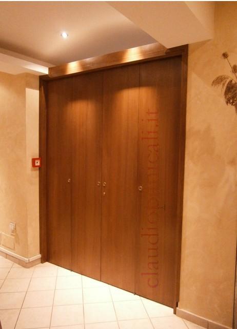 Porte e pareti scorrevoli ante specchio plexiglas erp for Porta a libro per cabina armadio