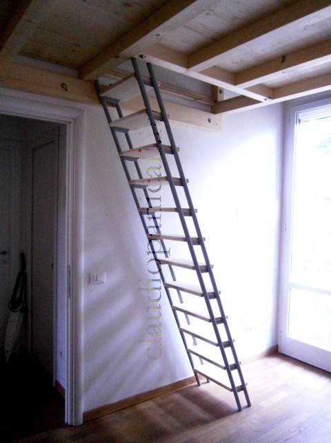 Soppalco in legno e ferro acciaio su misura - Scala letto soppalco ...