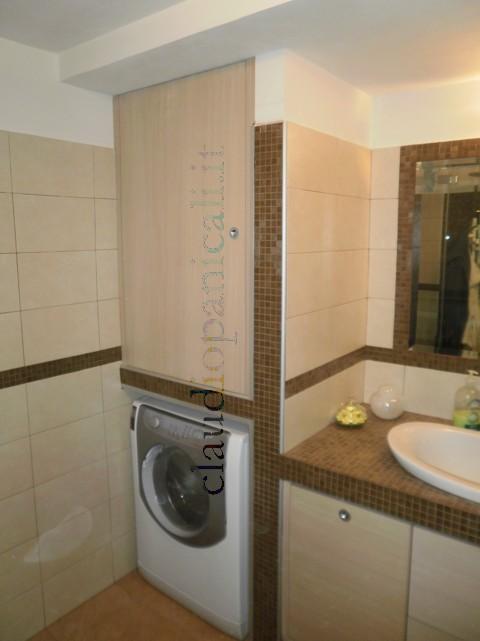 Mobile da bagno lavatrice asciugatrice con portabiancheria for Arredo bagno lavatrice