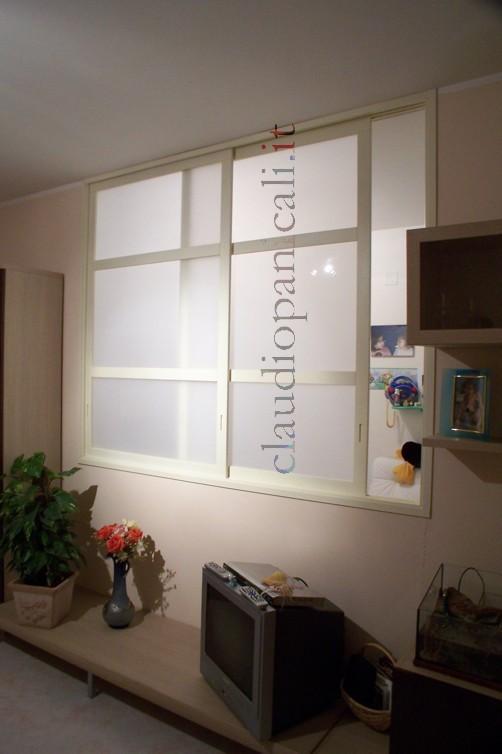 Porte e pareti scorrevoli ante specchio plexiglas erp for Finestra scorrevole 3 ante