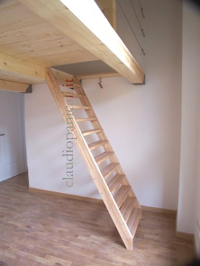 Scala su misura in legno per soppalco in legno e ferro for 2 box auto con officina e soppalco