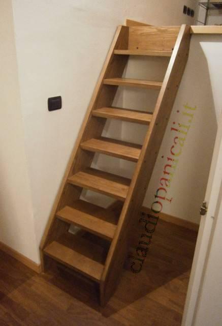 Scala su misura in legno per soppalco in legno e ferro for Costruire una scala in legno per soppalco