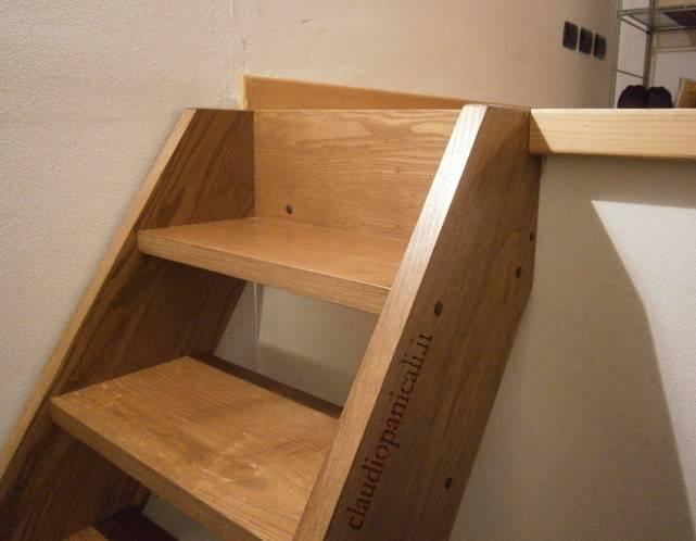 Scaletta In Legno Per Soppalco : Scala su misura in legno per soppalco in legno e ferro acciaio su